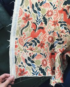 """Anna Bond on Instagram: """"Our fabric doesn't hit stores till the summer but we're already working on making some pretty rad projects with it! Just dropped this canvas pattern off with the upholsterer to go on a chair. #riflepapercofabric #cottonandsteel #madeinjapan"""""""