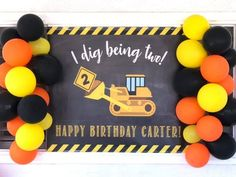 Construction Birthday Banner, Construction Party Decor, Construction Birthday Party, Construction Party Decorations, dump truck birthday Christmas – Grandcrafter – DIY Christmas Ideas ♥ Homes Decoration Ideas 2 Year Old Birthday Party, 2nd Birthday Boys, 2nd Birthday Party Themes, Second Birthday Ideas, First Birthday Parties, Birthday Party Decorations, First Birthdays, Birthday Cupcakes, Construction Party Decorations