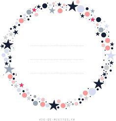 Bannière de blog à télécharger : couronne d'étoiles - Vie de Miettes