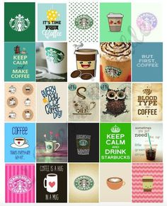 Printable Starbucks and Coffee box stickers for Life Planners. These cute stickers are made to fit the weekly boxes of the Erin Condren life: