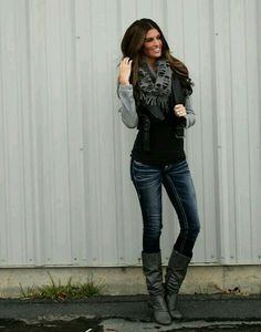 Edgy Casual Outfit for Women | Edgy Fall Outfits on Pinterest