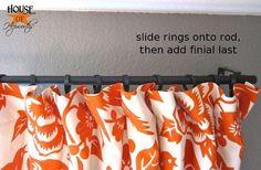 Inexpensive DIY Curtain Rod -- DIY
