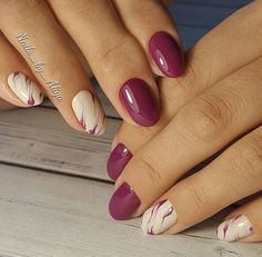 Having short nails is extremely practical. The problem is so many nail art and manicure designs that you'll find online Classy Nails, Simple Nails, Trendy Nails, Elegant Nails, Elegant Makeup, Love Nails, Pink Nails, Violet Nails, Peach Nails