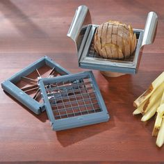 French Fry Cutter and Apple Corer\nThis 3-in-1 French fry cutter also slices and cores fruit.