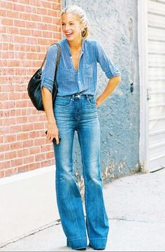 How To Wear Flared Jeans (Outfit Ideas) 2017 | FashionTasty.com