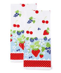 Take a look at this Berry Sweet Baking Dish Towel - Set of Two by Design Imports on #zulily today!