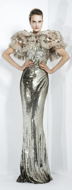 Zuhair Murad fall winter 2012...makes me think of Ginger Rogers in the 30s!