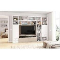 tv and fireplace wall fireplace tv wall mount full motion aeon 50300 wall unit f… Entertainment Wall Units, Living Room Entertainment Center, Entertainment Products, Modern Family Rooms, Living Room Modern, Living Room Tv, Small Living Rooms, Feng Shui, Modern Wall Units