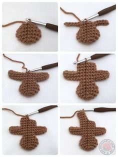 Gingerbread man free crochet pattern - knitting is as easy as 3 D . , Gingerbread man free crochet pattern - knitting is as easy as 3 D . Crochet Christmas Decorations, Crochet Ornaments, Christmas Crafts, Crochet Ornament Patterns, Homemade Christmas, Christmas Holidays, Crochet Gifts, Free Crochet, Learn Crochet