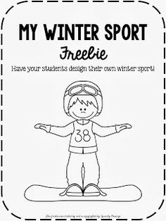 Speechy Musings: Have your students design their own winter sport with these fun mini books! All in black and white!
