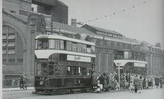 Trams in Portobello, Edinburgh. 1953