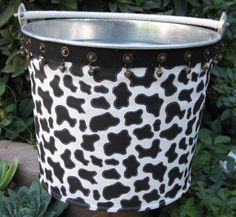 easy cow print bucket.....where to use it?