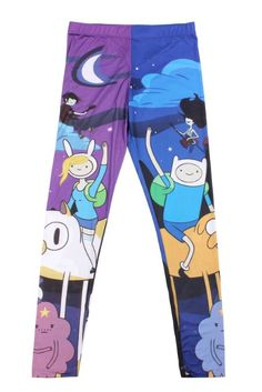 Amazon.com: Adventure Time Night Leggings: Clothing