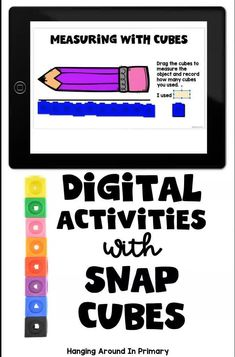 These snap cube activities are THE most engaging digital way to start your day. Keep your first and second graders engaged with digital morning work or digital math centers. These digital activities for Google Slides provide review of math concepts using linking cubes or snap cubes. Students work on area, measurement, patterning, spatial awareness #morningtubs #mathcenters #snapcubes #linkingcubes #mathmanipulatives Math Classroom, Google Classroom, Classroom Activities, Classroom Ideas, Teaching Resources, Teaching Ideas, Area Measurement, Number Sense Activities, Math Manipulatives