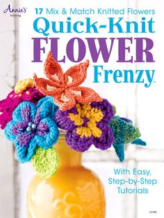 Quick knit flower frenzy: 17 mix & match knitted flowers (Paperback / softback)Title: Quick knit flower frenzy: 17 mix & match knitted flowers Format: Paperback / softback Type: BOOK Publisher: Annie's Attic UK Release Date: 20130107 Language: English. Knitting Books, Knitting Stitches, Knitting Patterns Free, Knit Patterns, Free Knitting, Knitting Projects, Knitting Ideas, Free Pattern, Knitted Flowers Free