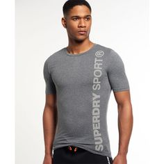 Shop Superdry Mens Gym Sport Runner Short Sleeve Top in Grey Grit. Buy now with free delivery from the Official Superdry Store. Gym Tops, Superdry Mens, Sport T Shirt, Gym Men, Active Wear, Men Sweater, Hoodies, Sports, Mens Tops