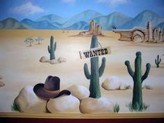 cowboy nursery mural - Google Search