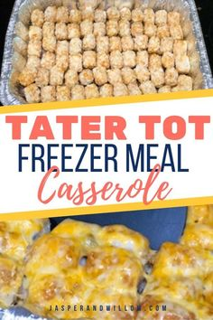 This easy make ahead freezer meal tater tot casserole with ground beef will be your new favorite dinner. The best comfort food for busy families. meals make ahead families Best Tater Tot Casserole - Make Ahead Freezer Meal For Busy Moms Freeze Ahead Meals, Make Ahead Freezer Meals, Freezer Friendly Meals, Budget Freezer Meals, Cooking On A Budget, Freezer Cooking, Crockpot Meals, Freezer Meal Recipes, Freezer Dinner