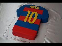 FC Barcelona Messi Trikot-Torte / Trikottorte /  Fussballtrikot / Fondant Cake / Motivtorte - YouTube