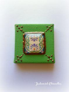 """Mini toile décorative série """" Autumn mosaics """" n°2 : Accessoires de maison par jademiel-etincelles"""