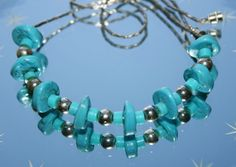 Vintage Faux Turquoise & Silver Coloured Chain Necklace by GillardAndMay on Etsy