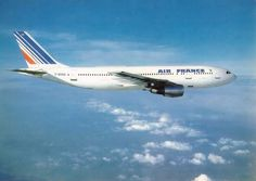 Air France airline Αirbus A300 issued postcard