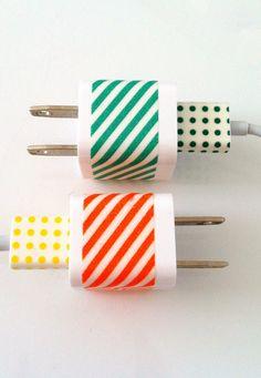 diy washi tape cords