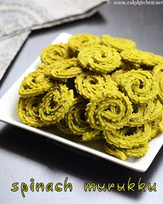 Spinach murukku recipe for Diwali, with step by step pictures