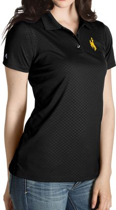 e5dac8f03 Antigua Women s Wyoming Black Inspire Performance Polo