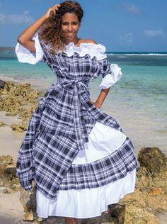 Robe Madras FEMME Caravellitta-169 Jw Fashion, Africa Fashion, Fashion Design, Pretty Dresses, Beautiful Dresses, Girl Running, Couture, Feminine Style, Traditional Dresses