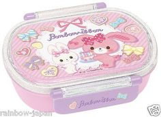 Sanrio Bonbon Ribbon Lunch Food Container Bento Box 360ml Sketer From JAPAN