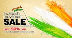 Pepperfry Swadeshi Movement Sale Offer : 50% Off During Swadeshi Movement Sale - Best Online Offer