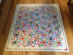 Swings & Roundabouts I would love to hear how many pieces went into this fabulous quilt!