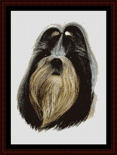 Shih Tzu - Cross Stitch Collectibles fine art counted cross stitch pattern
