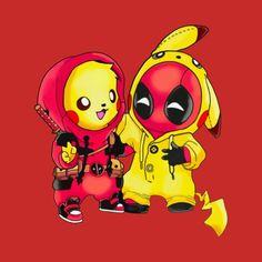 pikachu Pokemon and Deadpool Pikapool T-shirt - Deadpool Dea. - pikachu Pokemon and Deadpool Pikapool T-shirt – Deadpool – T-Shirt Cute Deadpool, Deadpool Pikachu, Deadpool Art, Deadpool Kawaii, Deadpool Tattoo, Deadpool Quotes, Deadpool Costume, Lady Deadpool, Deadpool Movie