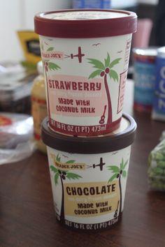 Coconut Milk ice cream Strawberry and Chocolate from Trader Joe's.So good!!!