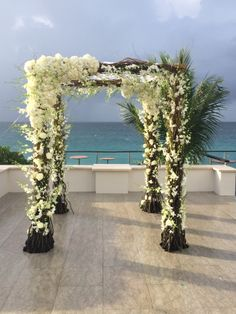 #Wedding Ceremony Structure design by Tracy Taylor Ward Design with assistance by #BlackOrchidFlorists @ #Viceroy #Anguilla