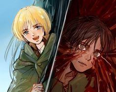 Eren and Armin Mikasa, Eren X Armin, Baby Daddy, Me Me Me Anime, Attack On Titan, Avatar, Artist, Jaegar, Ships