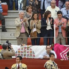 Mario Vargas Llosa spotted with his fiancee at the Bullfights in Illescas