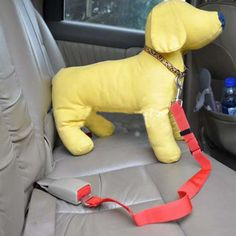 Hot sale Dog Belt Harness Restraint Lead Leash Puppy Car Seat Safety Red color