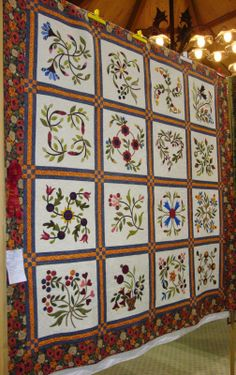 FABRIC THERAPY: 2014 Sauder Village Quilt Show, Part Two... KT:  love the borders between block