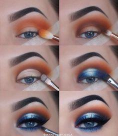 blue eyeshadow looks - blue eyeshadow ; blue eyeshadow looks ; blue eyeshadow for brown eyes ; blue eyeshadow looks step by step ; blue eyeshadow looks for brown eyes ; blue eyeshadow for black women Prom Eye Makeup, Eye Makeup Steps, Makeup Eye Looks, Makeup Tips, Beauty Makeup, Makeup Ideas, Makeup Tutorials, Makeup Inspo, Makeup Products
