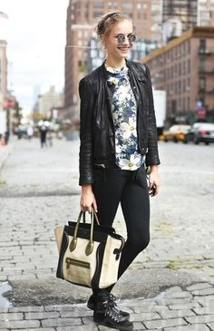 leather jackets are definitely a major statement piece to any outfit, they can take any soft girly outfit and give it a more edgy feel