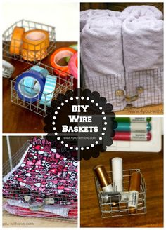 DIY Wire Baskets?! Yes!!! With an amazing tutorial included?! The happiness center in my brain just exploded. Love. This.