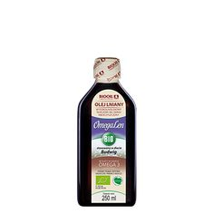 Rewelacyjny najwyższej jakości olej lniany BIO OmegaLen Bio. Tłoczony w Polsce, w Zielonej Górze! Ketchup, Bottle, Food, Flask, Essen, Meals, Yemek, Jars, Eten