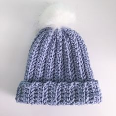 Ravelry: Chunky Hat pattern by Sofia Bailey Chunky Hat Pattern, Chunky Crochet Hat, Double Crochet, Knitted Hats, Crochet Beanie, Crochet Hooks, Free Crochet, Knit Crochet, Crochet Blankets