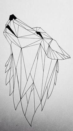 Geometric animals - wolf.YaStamp✌️