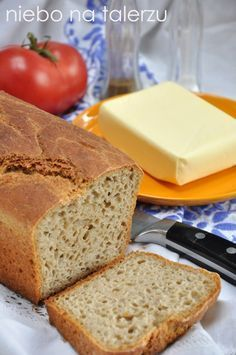 niebo na talerzu: Najłatwiejszy chleb.Heaven on a plate: The easiest bread Bread Maker Recipes, Cake Recipes, Baguette, Polish Recipes, Bread Rolls, Bread Baking, Food To Make, Bakery, Banana Bread