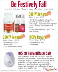 November Young Living Promo.  Repin this and click to read more details.  Order your essential oils with ID# 1488788. For more great info on Young Living therapeutic grade Essential Oils, follow my blog at www.oilytreasures.com and join me on Facebook at https://www.facebook.com/OilyTreasures #youngliving #essentialoils #oilyfamilies