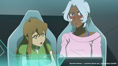"""💚Pidge: Allura… What do humans mean with """"shipping""""? I assume that it doesn't mean the same because I hear you and Lance talking about shipping Shiro… And I don't believe you mean """"sending Shiro"""". 💗Allura: Eh… ✨ Headcanon: Allura and Lance love to..."""